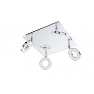 EGLO 94763   Gonaro Eglo spot lámpa elforgatható alkatrészek 4x LED 1440lm 3000K IP44 króm, fehér