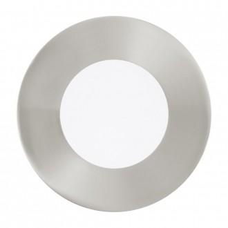EGLO 94777 | Fueva-1 Eglo beépíthető LED panel kerek Ø85mm 3x LED 1080lm 4000K matt nikkel, fehér