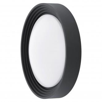 EGLO 94784 | Ontaneda Eglo fali, mennyezeti lámpa kerek 1x LED 820lm 3000K IP44 fekete, fehér