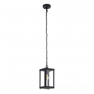 EGLO 94788 | Alamonte Eglo függeszték lámpa 1x E27 IP44 fekete, áttetsző