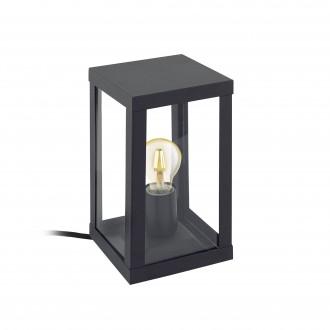 EGLO 94789 | Alamonte Eglo asztali lámpa 27,5cm 1x E27 IP44 fekete, áttetsző