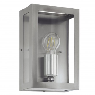 EGLO 94827   Alamonte Eglo fali lámpa 1x E27 IP44 nemesacél, rozsdamentes acél, áttetsző