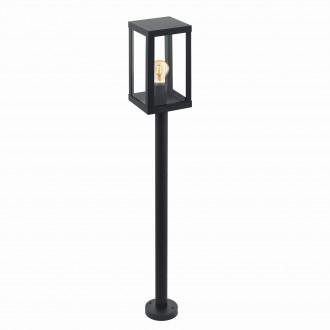 EGLO 94833 | Alamonte Eglo álló lámpa 101,5cm 1x E27 IP44 fekete, áttetsző