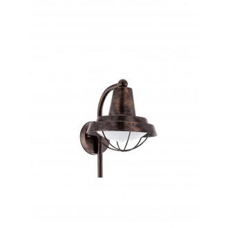 EGLO 94838 | Colindres Eglo falikar lámpa 1x E27 IP44 antik vörösréz, fehér