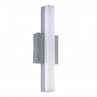 EGLO 94845 | Acate Eglo fali, mennyezeti lámpa négyzet 1x LED 770lm 3000K IP44 ezüst, fehér