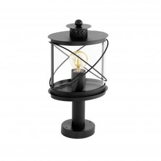 EGLO 94864 | Hilburn Eglo álló lámpa 41cm 1x E27 IP44 fekete, áttetsző