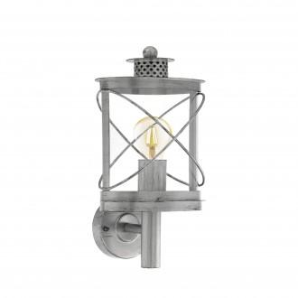 EGLO 94865 | Hilburn Eglo falikar lámpa 1x E27 IP44 antikolt ezüst, áttetsző