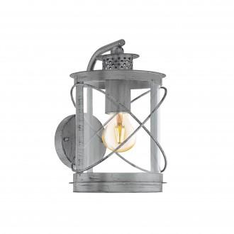 EGLO 94866 | Hilburn Eglo falikar lámpa 1x E27 IP44 antikolt ezüst, áttetsző