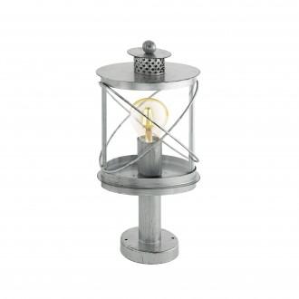 EGLO 94867 | Hilburn Eglo álló lámpa 41cm 1x E27 IP44 antikolt ezüst, áttetsző