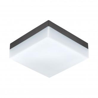 EGLO 94872 | Sonella Eglo fali, mennyezeti lámpa téglatest 1x LED 820lm 3000K IP44 antracit, fehér