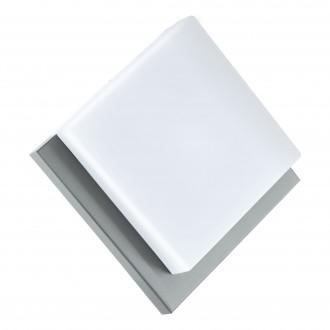 EGLO 94877 | Infesto-1 Eglo fali, mennyezeti lámpa téglatest 1x LED 820lm 3000K IP44 ezüst, fehér