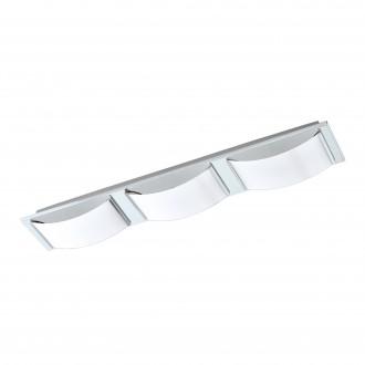 EGLO 94883 | Wasao-1 Eglo fali, mennyezeti lámpa elforgatható alkatrészek 3x LED 1530lm 3000K IP44 króm, fehér
