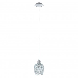 EGLO 94896 | Bonares-1 Eglo függeszték lámpa 1x E27 króm, átlátszó