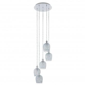 EGLO 94898 | Bonares-1 Eglo függeszték lámpa 5x E27 króm, átlátszó