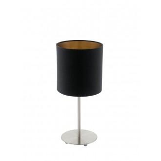 EGLO 94917 | Eglo-Pasteri-BC Eglo asztali lámpa 40cm vezeték kapcsoló 1x E27 matt fekete, sárgaréz, matt nikkel