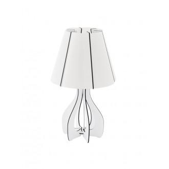 EGLO 94947 | Tindori Eglo asztali lámpa 45cm vezeték kapcsoló 1x E27 fehér