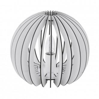 EGLO 94949 | Cossano Eglo asztali lámpa 22cm vezeték kapcsoló 1x E27 fehér
