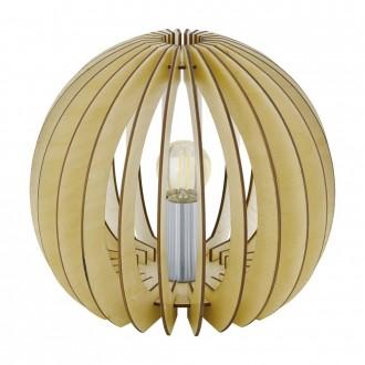 EGLO 94953 | Cossano Eglo asztali lámpa 22cm vezeték kapcsoló 1x E27 juhar, fehér