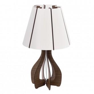 EGLO 94954 | Tindori Eglo asztali lámpa 45cm vezeték kapcsoló 1x E27 barna, fehér