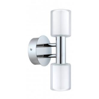 EGLO 94994 | Palermo-1 Eglo falikar lámpa 2x G9 600lm 3000K IP44 króm, fehér, áttetsző