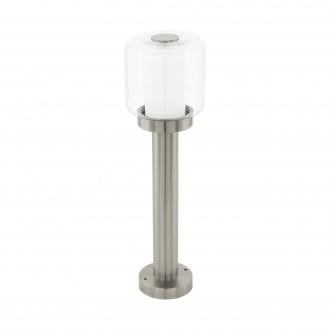 EGLO 95018   Poliento Eglo álló lámpa 50cm 1x E27 IP44 nemesacél, rozsdamentes acél, áttetsző, fehér