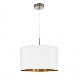EGLO 95044 | Eglo-Pasteri-WHC Eglo függeszték lámpa 1x E27 matt fehér, sárgaréz, matt nikkel