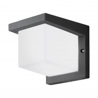 EGLO 95097 | Desella1 Eglo fali lámpa négyzet 1x LED 900lm 3000K IP54 antracit, fehér