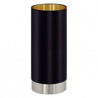 EGLO 95117 | Eglo-Maserlo-B Eglo asztali lámpa 25,5cm fényerőszabályzós érintőkapcsoló 1x E27 fényes fekete, arany, matt nikkel