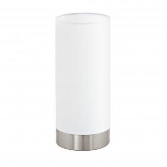 EGLO 95118 | Eglo-Pasteri-W Eglo asztali lámpa 25,5cm fényerőszabályzós érintőkapcsoló 1x E27 matt fehér, matt nikkel