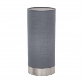 EGLO 95119 | Eglo-Pasteri-G Eglo asztali lámpa 25,5cm fényerőszabályzós érintőkapcsoló 1x E27 matt szürke, fehér, matt nikkel