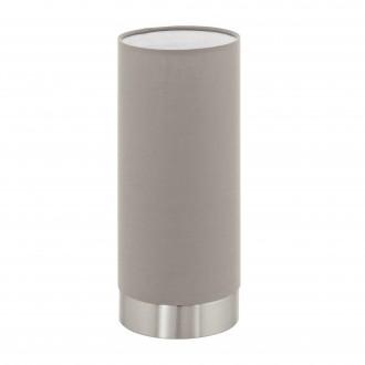 EGLO 95122 | Eglo-Pasteri-T Eglo asztali lámpa 25,5cm fényerőszabályzós érintőkapcsoló 1x E27 matt taupe, fehér, matt nikkel