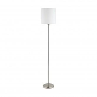 EGLO 95164 | Eglo-Pasteri-W Eglo álló lámpa 157,5cm taposókapcsoló 1x E27 matt fehér, matt nikkel