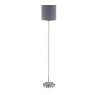 EGLO 95166 | Eglo-Pasteri-G Eglo álló lámpa 157,5cm taposókapcsoló 1x E27 matt szürke, fehér, matt nikkel