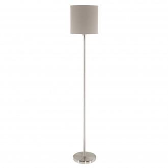 EGLO 95167 | Eglo-Pasteri-T Eglo álló lámpa 157,5cm taposókapcsoló 1x E27 matt taupe, fehér, matt nikkel