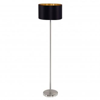 EGLO 95169 | Eglo-Maserlo-B Eglo álló lámpa 151cm taposókapcsoló 1x E27 fényes fekete, arany, matt nikkel