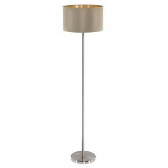 EGLO 95171 | Eglo-Maserlo-T Eglo álló lámpa 151cm taposókapcsoló 1x E27 fényes taupe, arany, matt nikkel