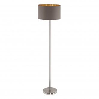 EGLO 95172 | Eglo-Maserlo-CG Eglo álló lámpa 151cm taposókapcsoló 1x E27 fényes kapucsínó, arany, matt nikkel