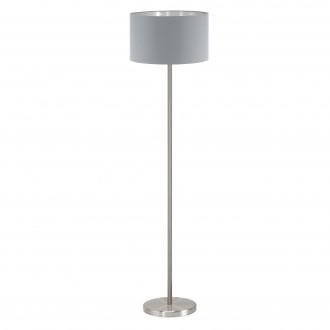 EGLO 95173 | Eglo-Maserlo-G Eglo álló lámpa 151cm taposókapcsoló 1x E27 szürke, ezüst, matt nikkel