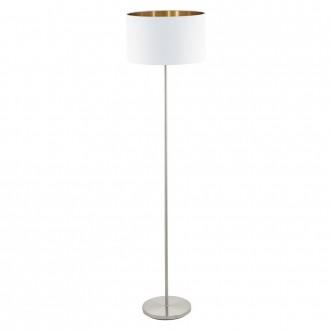 EGLO 95174 | Eglo-Pasteri-WHC Eglo álló lámpa 151cm taposókapcsoló 1x E27 matt fehér, sárgaréz, matt nikkel