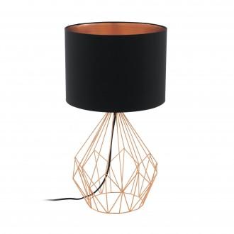 EGLO 95185 | Carlton Eglo asztali lámpa 64,5cm vezeték kapcsoló 1x E27 vörösréz, fekete