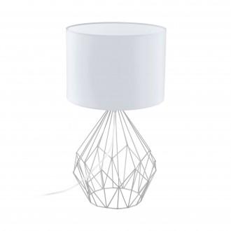 EGLO 95187 | Carlton Eglo asztali lámpa 64,5cm vezeték kapcsoló 1x E27 króm, fehér