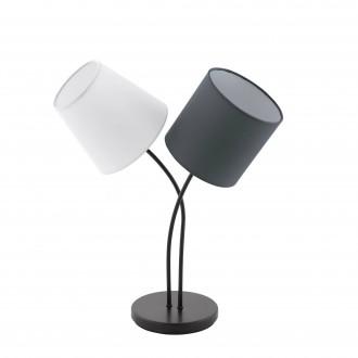 EGLO 95194 | Almeida Eglo asztali lámpa 47,5cm vezeték kapcsoló 2x E14 fekete, fehér