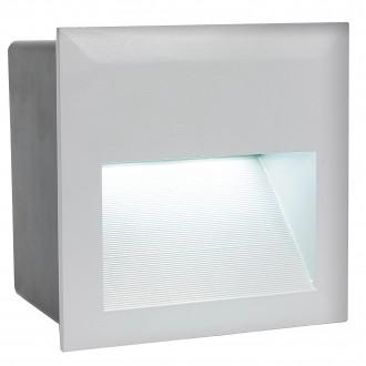EGLO 95235 | ZimbaLed Eglo beépíthető lámpa 140x140mm 1x LED 400lm 4000K IP65 ezüst