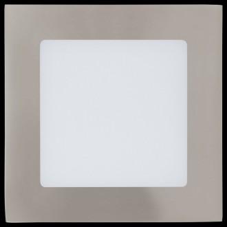 EGLO 95276 | Fueva-1 Eglo beépíthető LED panel négyzet 120x120mm 1x LED 700lm 4000K matt nikkel