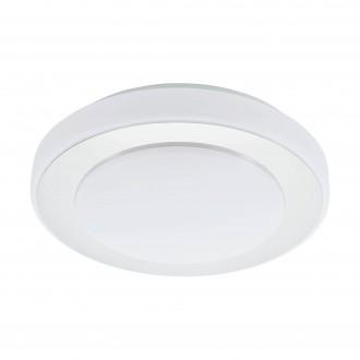 EGLO 95282 | Carpi-LED Eglo fali, mennyezeti lámpa kerek 1x LED 950lm 3000K IP44 króm, fehér