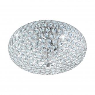 EGLO 95284 | Clemente Eglo mennyezeti lámpa 2x E27 króm, átlátszó