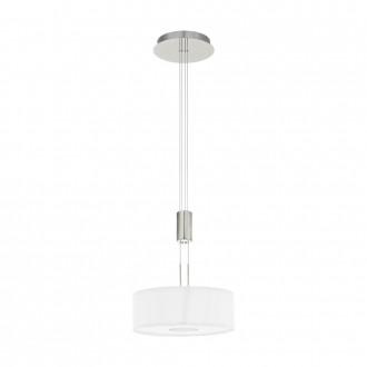 EGLO 95329 | Romao Eglo függeszték lámpa ellensúlyos, állítható magasság, szabályozható fényerő 1x LED 1600lm 3000K matt nikkel, króm, fehér
