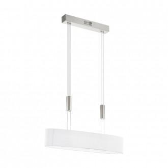 EGLO 95332 | Romao Eglo függeszték lámpa ellensúlyos, állítható magasság, szabályozható fényerő 4x LED 2000lm 3000K matt nikkel, króm, fehér