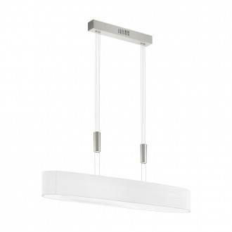 EGLO 95333 | Romao Eglo függeszték lámpa ellensúlyos, állítható magasság, szabályozható fényerő 6x LED 3000lm 3000K matt nikkel, króm, fehér