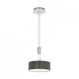 EGLO 95338 | Romao Eglo függeszték lámpa ellensúlyos, állítható magasság, szabályozható fényerő 1x LED 1600lm 3000K matt nikkel, króm, barna